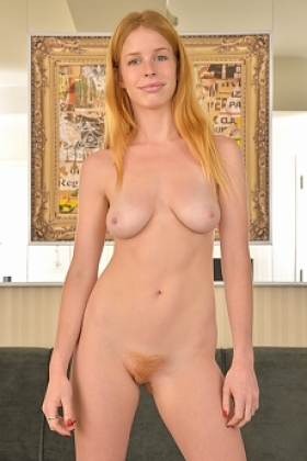 Alexia silver a natural redhead with a sexy body juicy tits and a hairy pussy